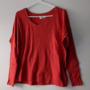 Lucy & Laurel Dolman Sleeve Top Red Size Small